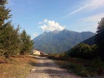 Гребень Aibga горы, Krasnaya Polyana, Сочи Стоковые Изображения RF