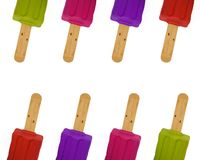 гребет красочную картину popsicles Стоковое Фото