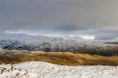 Гребни Snowy в английском районе озера Стоковое Фото