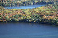 Гребля Висконсин осени Wissota озера Стоковые Изображения