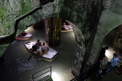 Гребля в ОН нелегально сдобренном бассейне Стоковые Фотографии RF