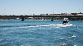 Гребля в реке лебедя Стоковые Изображения