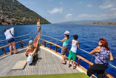 Гребля в Средиземном море, туристах сфотографирована на d Стоковое Изображение RF