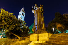Грегори статуи Nin и башни колокола в разделении Стоковые Фотографии RF