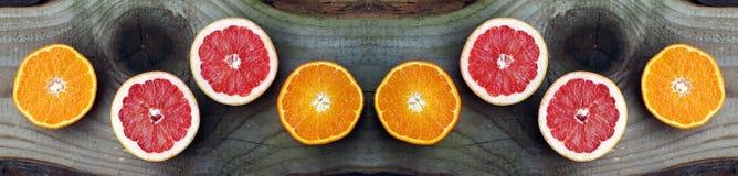 Грейпфрут и апельсины здоровые плодоовощи Стоковые Фотографии RF