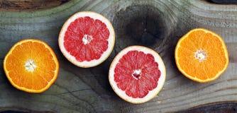 Грейпфрут и апельсины здоровые плодоовощи Стоковое Изображение RF
