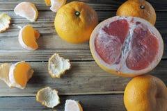 Грейпфрут и tangerine Стоковые Фото