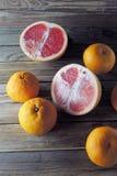 Грейпфрут и tangerine Стоковое Фото
