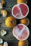 Грейпфрут и tangerine Стоковая Фотография