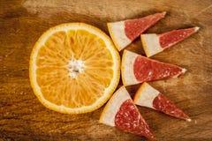 Грейпфрут и tangerine Стоковая Фотография RF