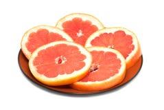 грейпфрут отрезока кругов Стоковая Фотография