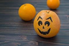 Грейпфрут при нарисованная сторона Стоковые Изображения RF