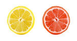 Грейпфрут с кусками лимона Стоковые Фотографии RF