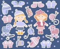 Грейте knits для девушок иллюстрация вектора