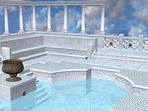 грек ванны Стоковая Фотография
