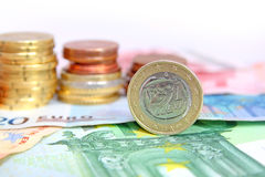грек евро монетки Стоковые Фото