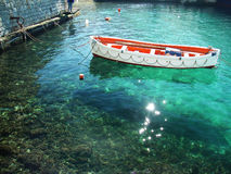 грек рыболовства шлюпки Стоковая Фотография