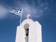 грек флага церков Стоковое Изображение RF