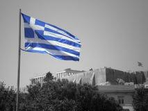 грек флага стоковые фотографии rf
