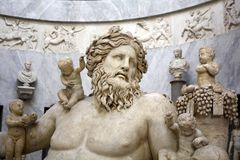 Грек Neilos Нила рек-бога Pio-Clementino музей, государство Ватикан Стоковое фото RF