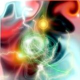 Гремит и предпосылка межзвёздного облака Стоковое Изображение