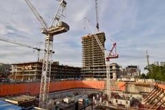 Гремя строительная промышленность жилищного строительства в Торонто стоковое фото rf