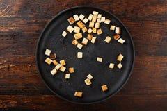 Гренки в сковороде Стоковое Фото