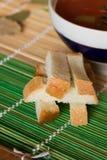 Гренки для супа Стоковые Фото