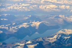 Гренландия от воздуха Стоковое Изображение
