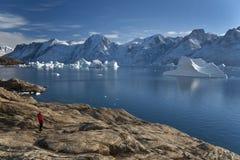 Гренландия - северо-западный фьорд Стоковые Фото