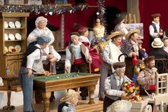 ГРЕНОБЛЬ - 16-ОЕ ДЕКАБРЯ: Модель традиционных кукол человека Франции Стоковые Фото