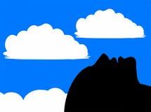 Греться в Солнце - наблюдатель неба - Daydreamer иллюстрация вектора