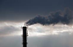 греть изменения дыма атмосферного загрязнения Стоковые Изображения RF