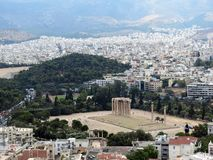 Греция, Афина, висок Зевса стоковое фото rf