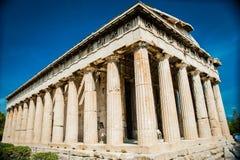 Греция, Афины, август 2016, акрополь Афин, старой цитадели расположенной на весьма скалистом выходе на поверхность над городом At Стоковое Изображение
