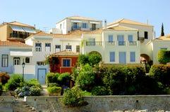 Греция, дом к острову Стоковая Фотография