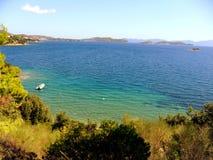 Греция, каникулы на острове Skiathos Стоковая Фотография RF