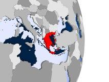 Греция на глобусе бесплатная иллюстрация