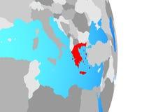 Греция на глобусе иллюстрация штока