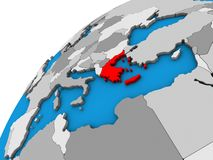 Греция на глобусе 3D иллюстрация вектора