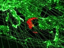 Греция на зеленой карте иллюстрация вектора