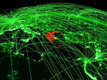 Греция на зеленом глобусе бесплатная иллюстрация