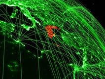 Греция на зеленом глобусе иллюстрация вектора