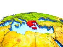 Греция на земле 3D иллюстрация штока