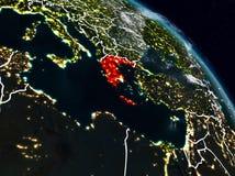 Греция на ноче иллюстрация штока