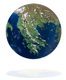 Греция на планете земли иллюстрация штока