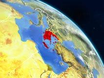 Греция от космоса бесплатная иллюстрация