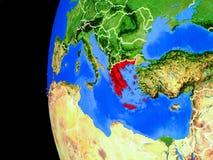 Греция от космоса иллюстрация вектора