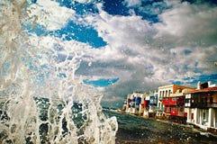 Греция, Mykonos, меньший район Венеции стоковая фотография rf