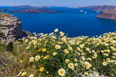 Греция, Santorini, взгляд залива Стоковые Фотографии RF
